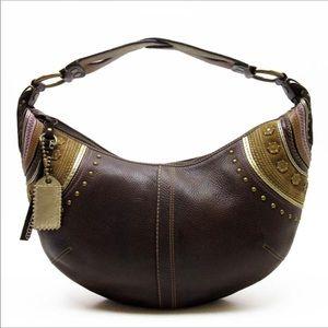 Coach Soho LARGE Pebble Leather Studded Hobo Bag